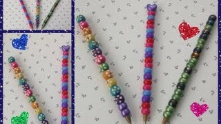 Repeat youtube video PLUMA O LAPICERO ADORNADO CON CUENTITAS DE COLORES . DIY