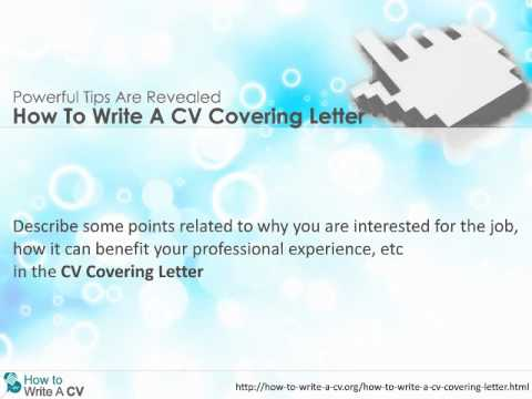How To Write A Cv Covering Letter