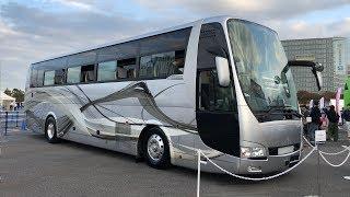 【4K動画】大型バス(運転席)ハイデッカー(エアロクィーン)Aero Queen(平成30年式)三菱ふそう(2018年型)大型観光バス thumbnail