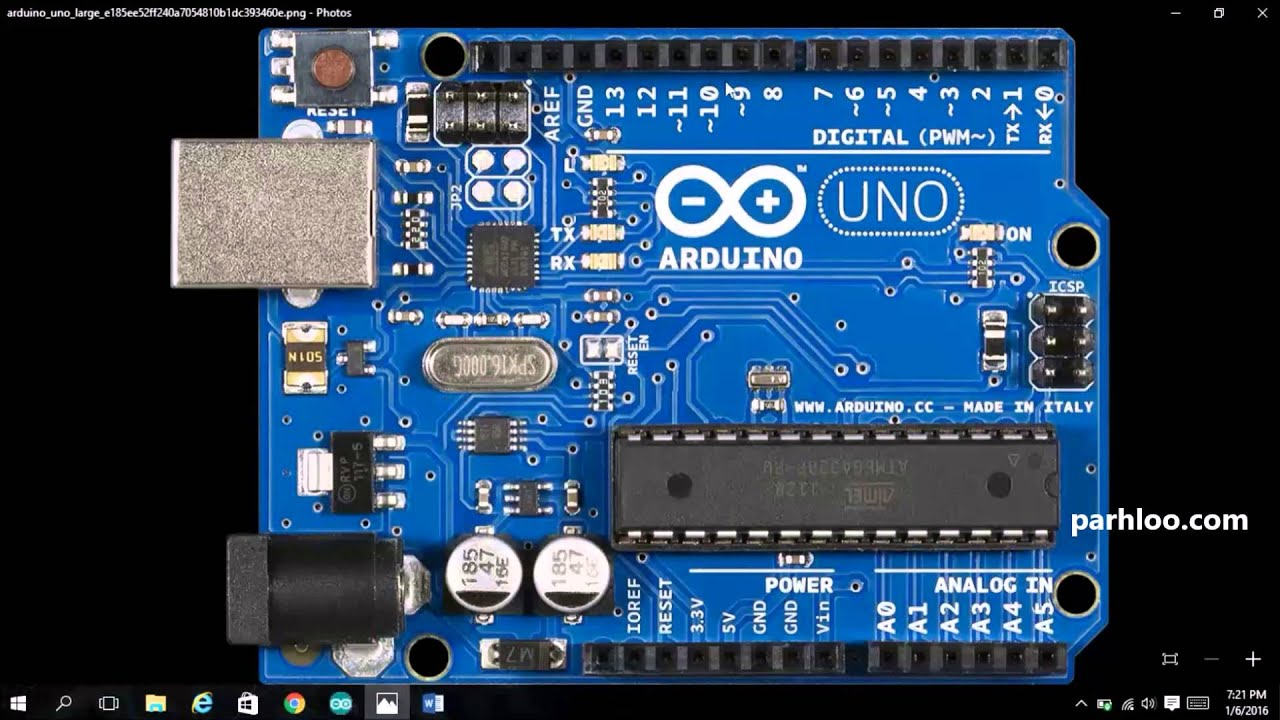 Arduino board overview and blinking the led