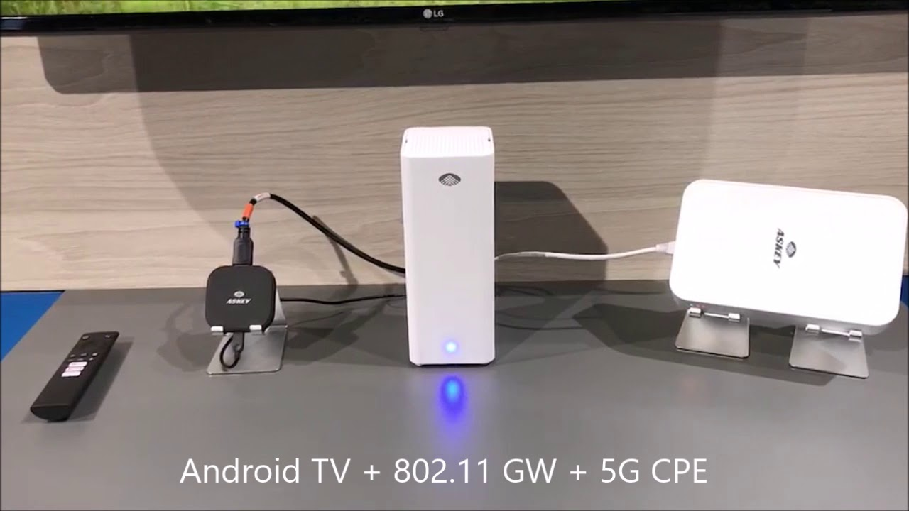 2019 MWC Askey and Ericsson 5G mmWave Demo