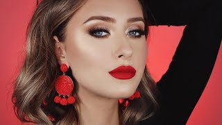 THE PERFECT VALENTINES DAY MAKEUP♡ RED LIP TUTORIAL