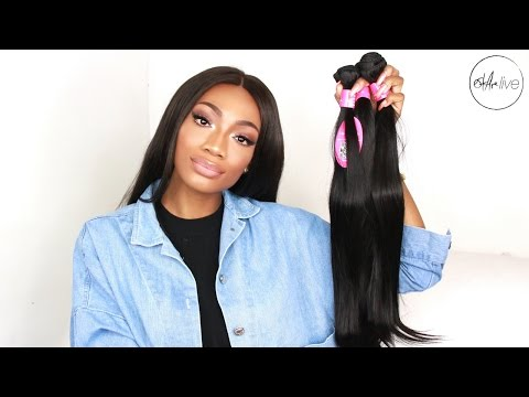 AFFORDABLE ALIEXPRESS HAIR | FASHOW HAIR INITIAL REVIEW • MALAYSIAN STRAIGHT BUNDLES!
