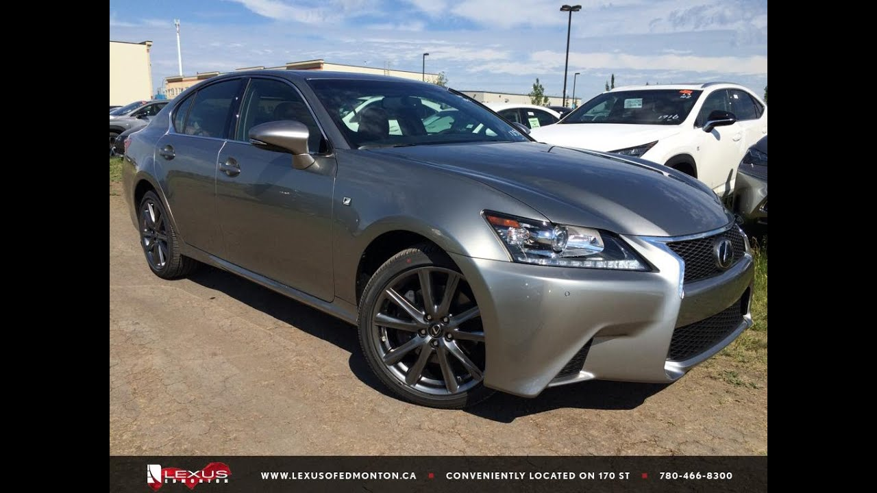 new atomic silver 2015 lexus gs 350 awd f sport series 1 review northwest edmonton youtube. Black Bedroom Furniture Sets. Home Design Ideas
