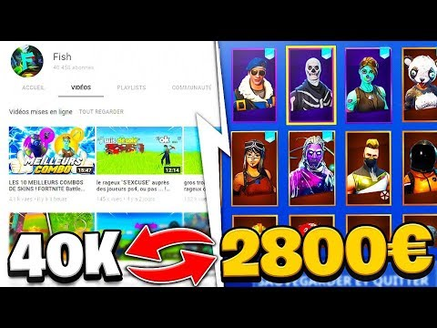 a scammer wants to exchange his fortnite account at 2800 € against my YouTube channel! Fortnite