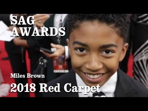 Download Youtube: Miles Brown On The SAG 2018 Red Carpet   Los Angeles Times