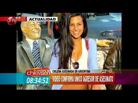 Nuevo video confirma a único agresor de joven chilena que murió en Argentina