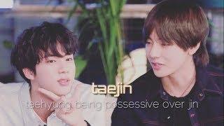 Taehyung 39 s possessiveness over Jin taejin vjin