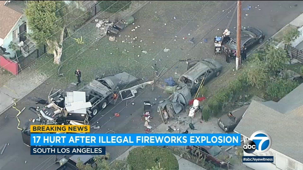 Download South LA fireworks explosion occurred after 'catastrophic failure' during planned detonation   ABC7