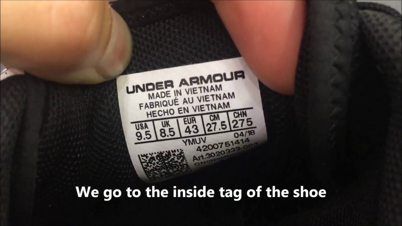 gatear Compadecerse Ballena barba  How to spot original Under Armour shoes production date - YouTube