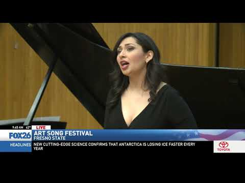 Jim De La Vega previews the Art Song Festival at Fresno State (4/4) - KMPH FOX 26, Fresno CA