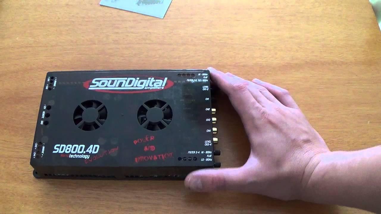 Soundigital SD800 4 - Demonstrando, regulando crossover e ganho
