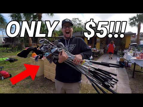 ONLY $5 FOR ALL THESE GOLF CLUBS!?!? (Garage Sale Find!!)