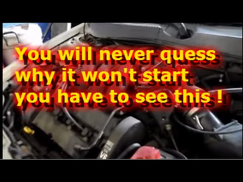 Engine cranks but won\u0027t start - YouTube