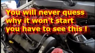 Engine cranks but won't start(2003 Ford Taurus 3.0 liter 24 valve no start cranks OK.You will not believe what the problem is.You have to see this !!!!!!!!!, 2014-05-16T19:12:14.000Z)