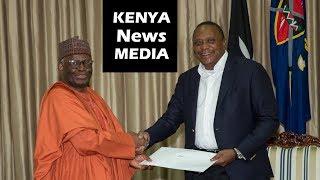 Uhuru Kenyatta receives special message from Nigerian President Buhari!!!