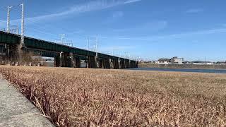 名鉄1700系1702F豊川橋梁低速通過