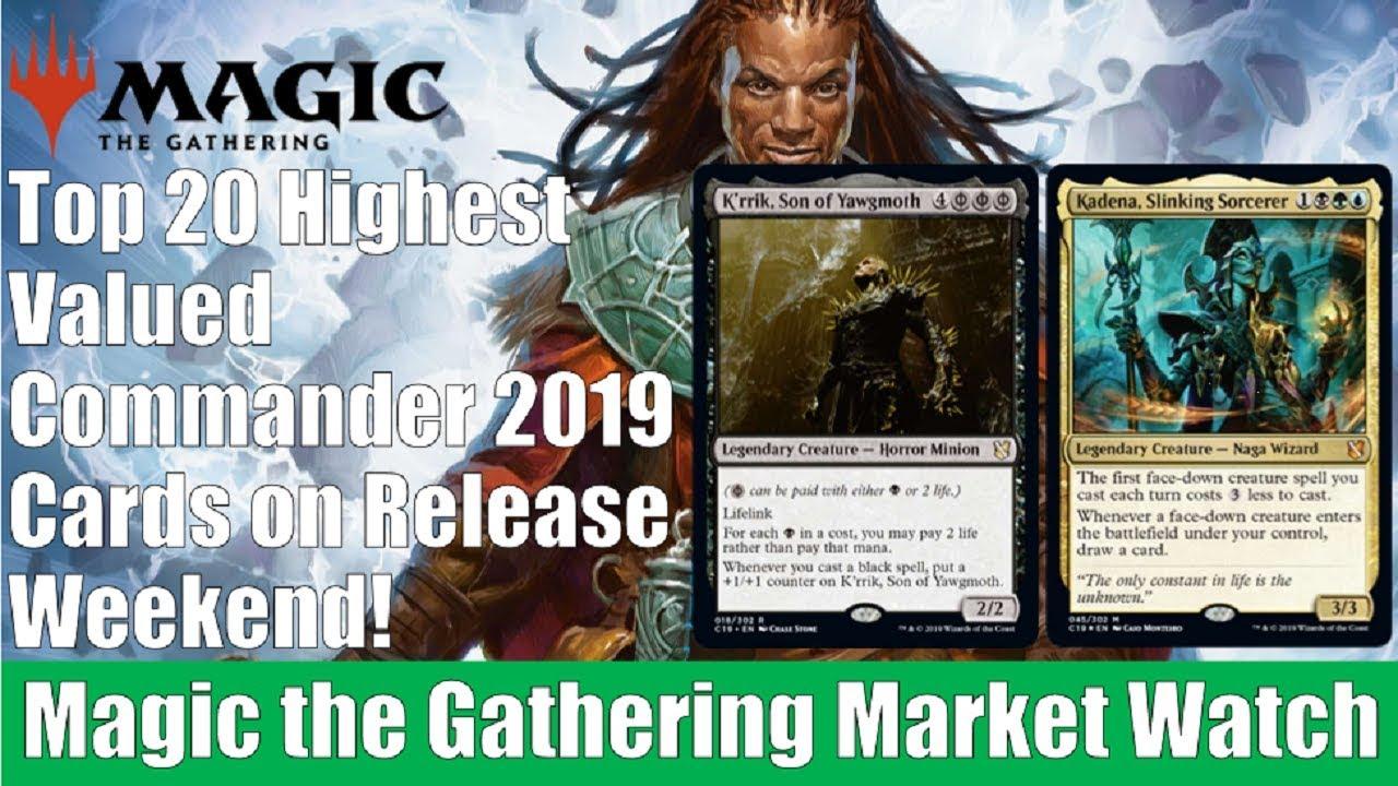 MTG Market Watch: Top 20 Highest Valued Commander 2019 Cards