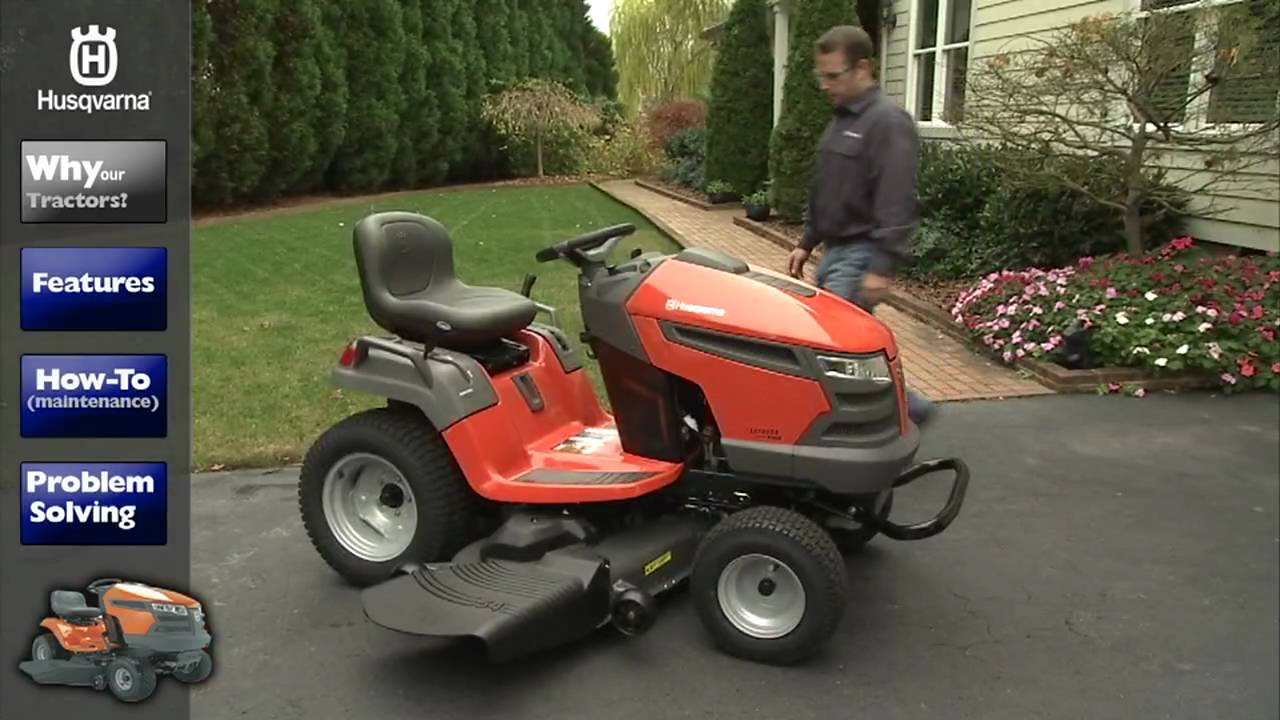 Lawn Tractors Why Husqvarna Riding Lawn Mower YouTube