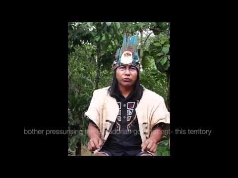 Sapara leader Manari speaks from the Ecuadorian Amazon 22.02.2106