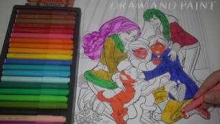 Barbie in a Perfect Christmas Coloring Page - Step by Step Video - Learn Colors