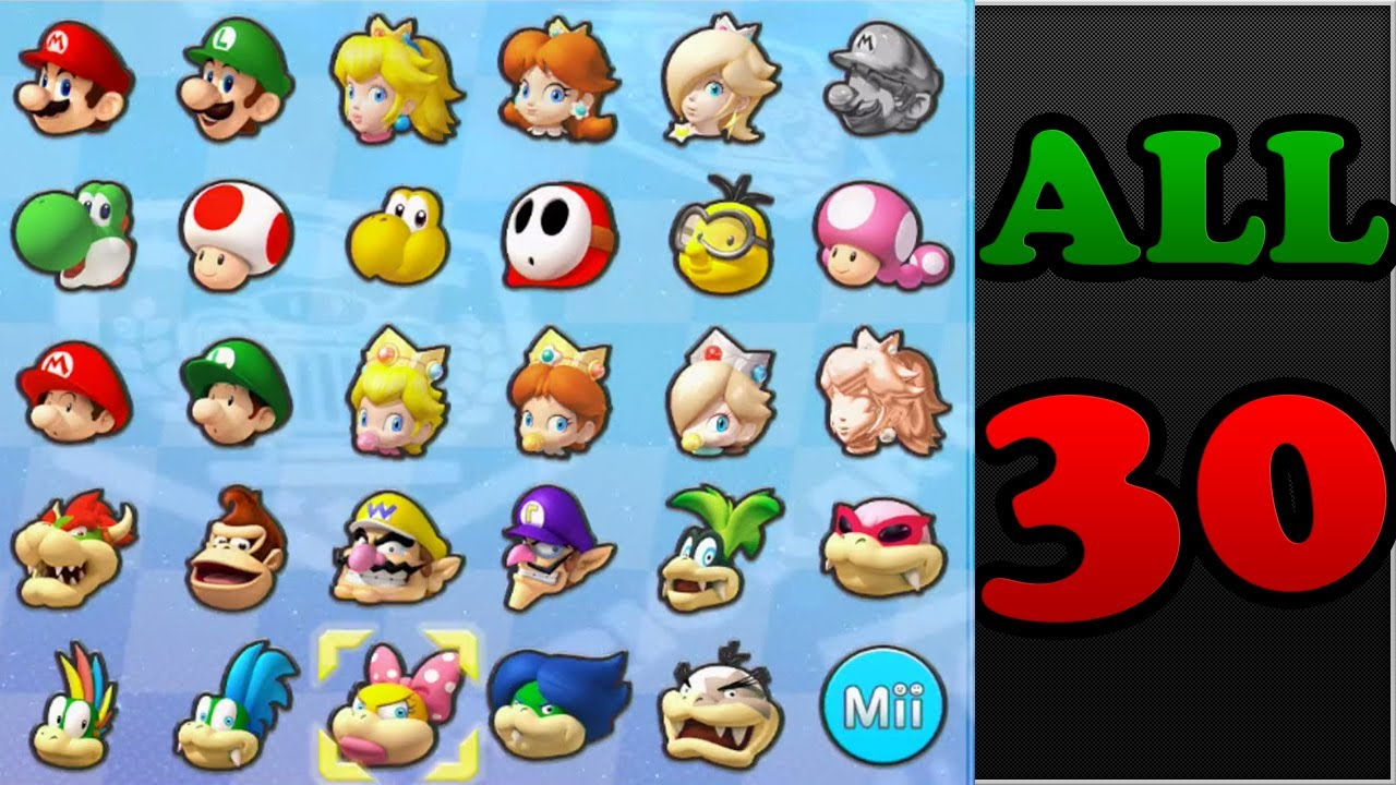 Mario Kart 8 - All Characters Unlocked (Koopalings, Pink ...