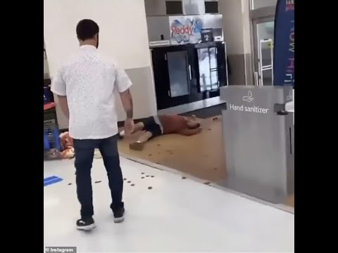 Walmart employee knocks out customer cold with one punch after being spat on