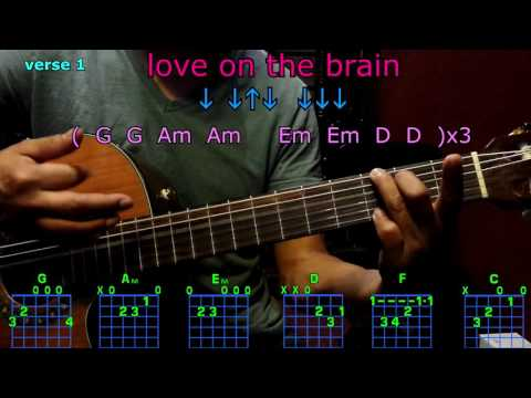 love on the brain rihanna guitar chords