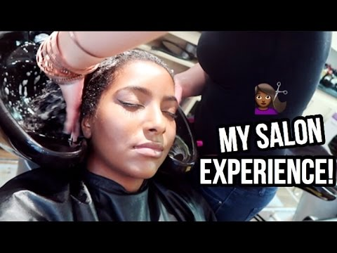CUTTING MY NATURAL HAIR - SALON EXPERIENCE! + ANNOUNCEMENT!