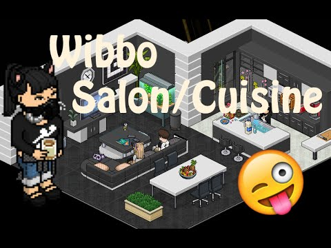 Habbo Une Piece De Vie 1 Salon Cuisine Youtube