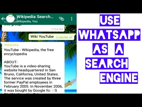 Use Whatsapp as a Search Engine || Wikipedia via Whatsapp