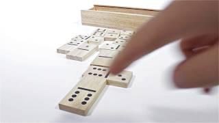Produktvideo zu Maxi-Domino im Holzkasten Pintoy 6er