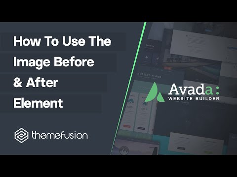 How To Use The Image Before & After Element Video
