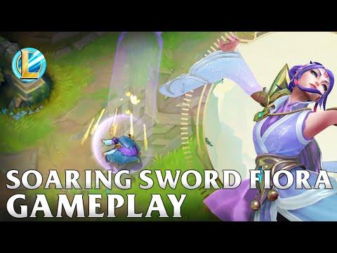 Soaring Sword Fiora Gameplay - WILD RIFT