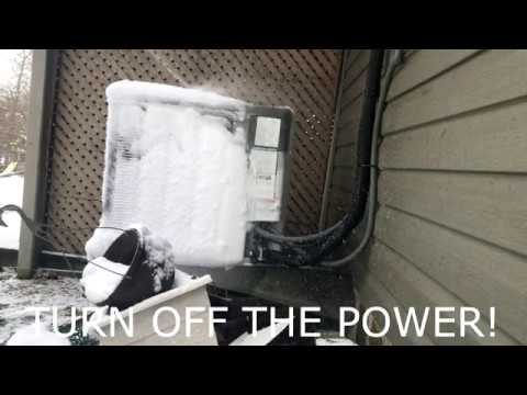 How to Defrost a Iced up Heat Pump