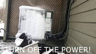 How to Defrost a I¢ed up Heat Pump