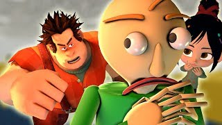 [SFM Baldi's Basics] Baldi vs Wreck-It Ralph