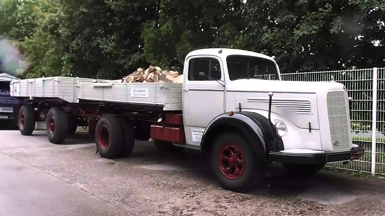 Mercedes benz langhauber lkw german truck youtube for Old mercedes benz trucks