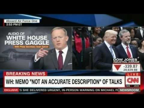 Thumbnail: WH Press Briefing abord Air Force One with Sean Spicer and CNN Panel discussion afterwards