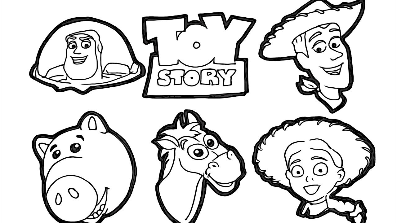 Disney's Toy Story Coloring Book Compilation Buzz ...