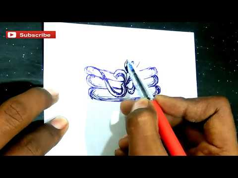 how to make om tattoo || how to draw om || how to drawing om paper