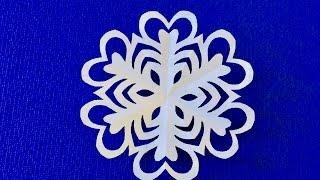 DIY. ✽ Как просто вырезать снежинку ✽ SNOWFLAKE.