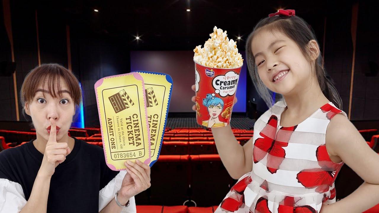 극장에서 하지 말아야 할일!! 서은이의 영화관 에티켓 지켜야할 일들 예절 팝콘 가게 Etiquette in the Theater