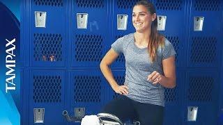 US Women's National Soccer Team forward Alex Morgan shares her pre-...
