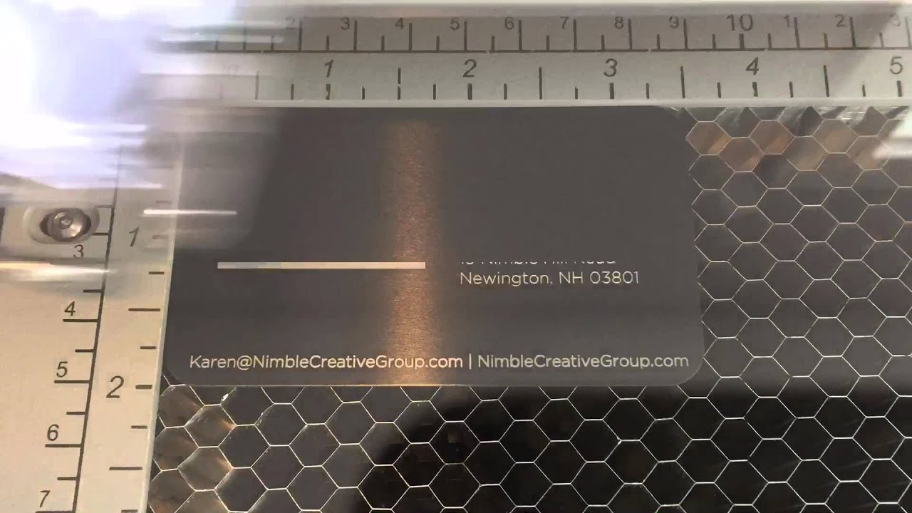 laser engraved anodized aluminum business card youtube