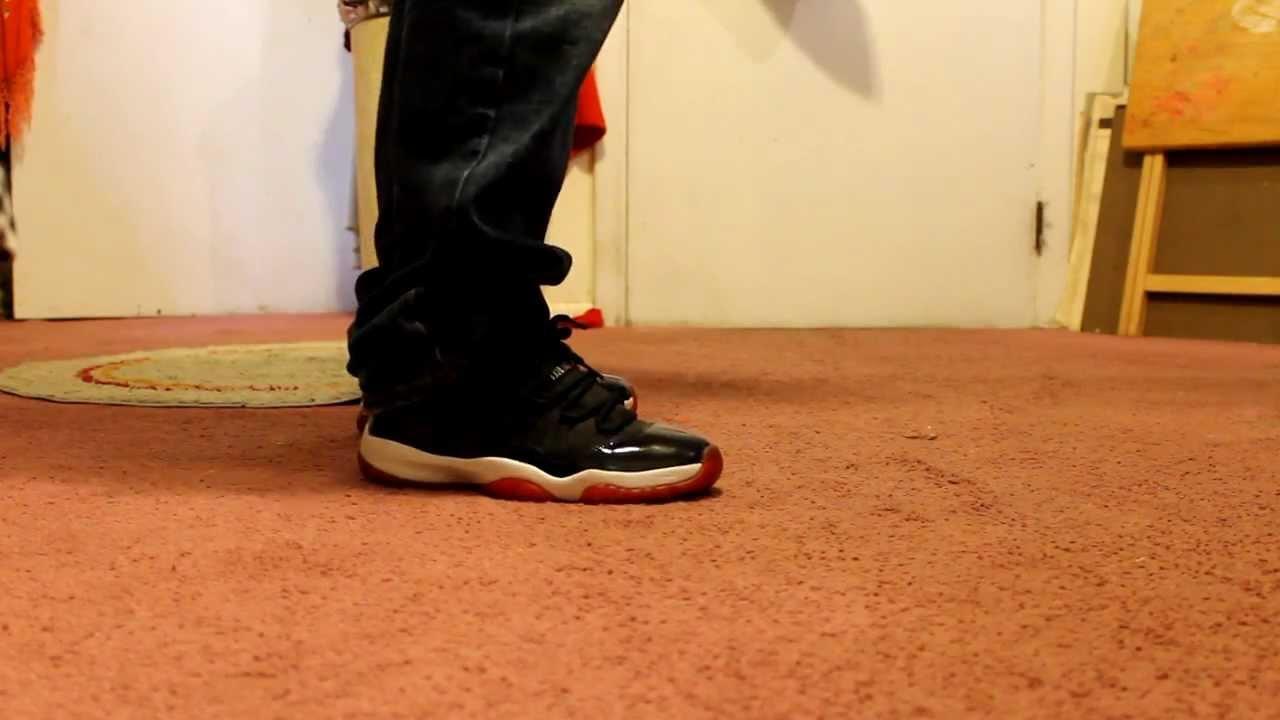 """Jordan Bred 11 """"On Feet"""" - YouTube Jordan 11 Bred On Feet"""