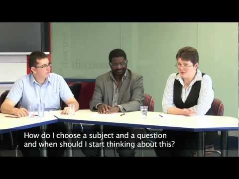 Dissertation Question Time - Choosing a subject