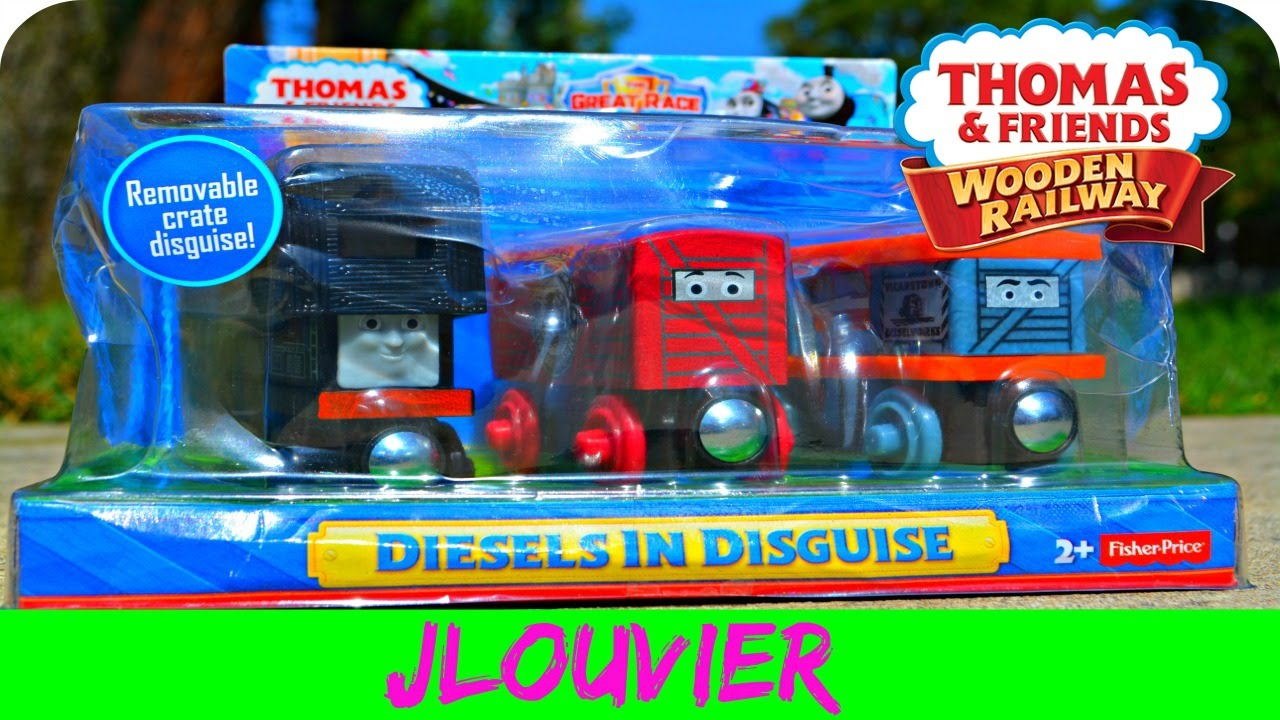 Thomas Wooden Railway Diesels In Disguise 3 Pack The Great Race 2016 Review
