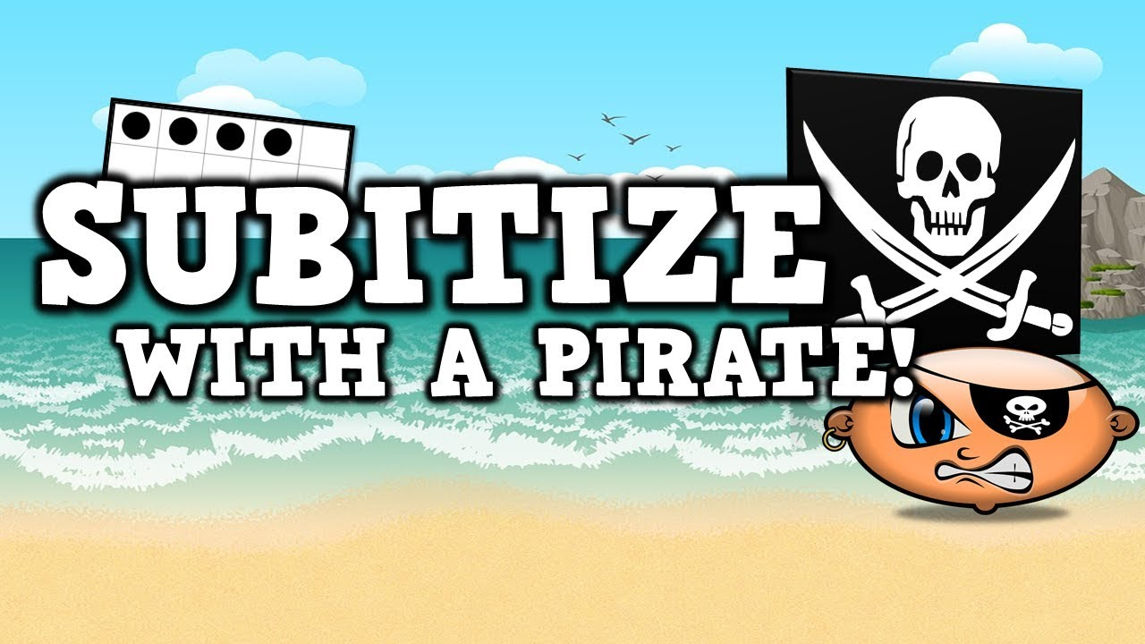 Subitize with a Pirate [suhb-i-tize] (pirate math song for kids ...