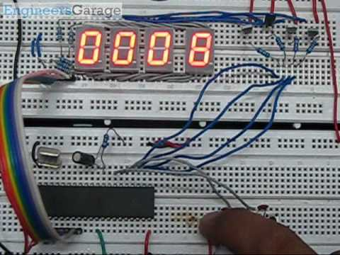 Up And Down Counter Circuit Diagram | Up Down Counter Project Using 8051 Microcontroller With Circuit C
